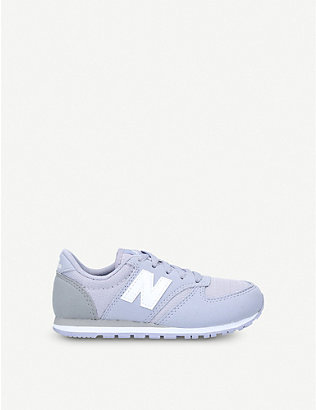 NEW BALANCE: 420 suede trainers 6-10 years