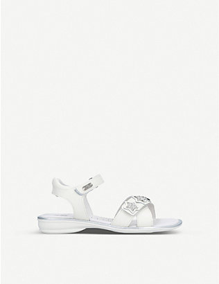 LELLI KELLY: Rebecca star-embellished leather sandals 3-9 years