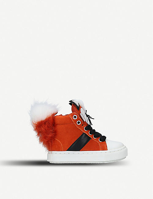 wholesale dealer a44ce dcfde KURT GEIGER LONDON Fantastic fox suede booties 3-7 years