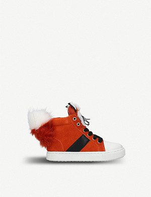 KURT GEIGER LONDON Fantastic fox suede booties 7-10 years
