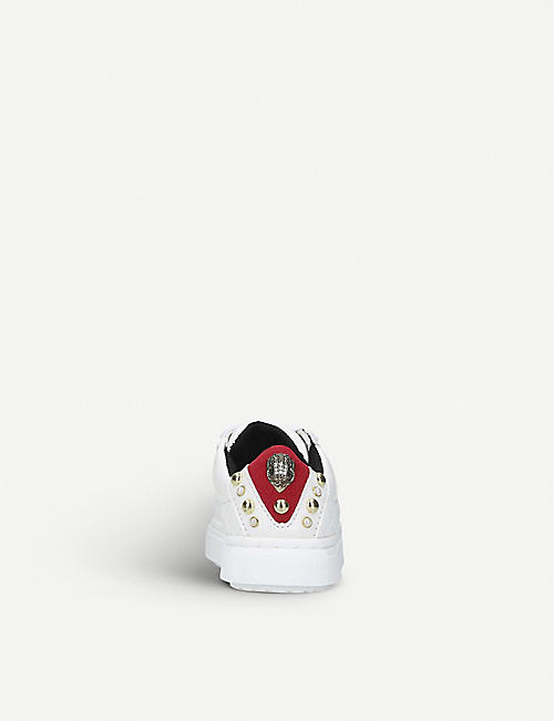 KURT GEIGER LONDON Mini Ludo faux-leather trainers 3-7 years