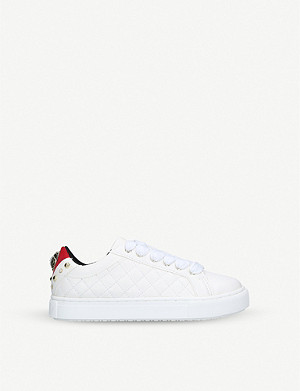 KURT GEIGER LONDON Mini Ludo faux-leather trainers 7-9 years