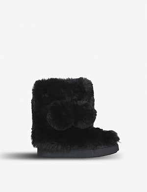 KURT GEIGER LONDON Eskimo faux-fur boots 3-7 years