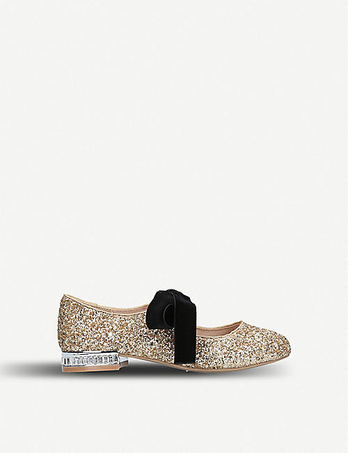 MINI MISS KG: Diamond glitter ballerinas
