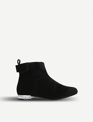 KURT GEIGER LONDON Glitz velvet boots 7-10 years