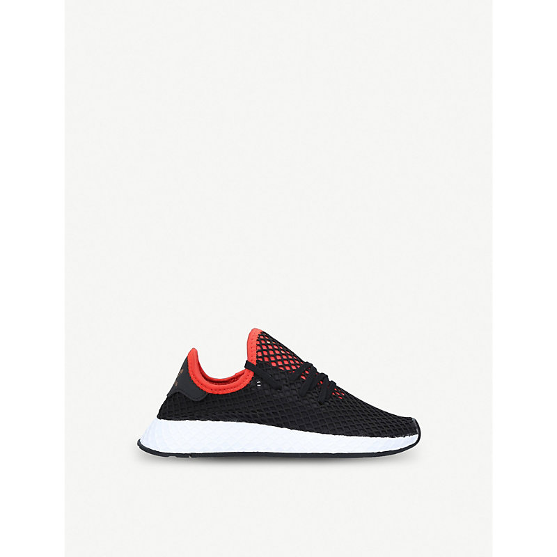 ADIDAS | Deerupt Runner Webbed-Mesh And Leather Trainers 6 Months-2 Years | Goxip