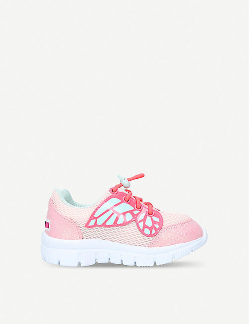 SOPHIA WEBSTER Chiara Mini Butterfly mesh-panelled glittered trainers 2-8 years