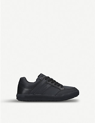 GEOX: Arzach leather low-top trainers 9-11 years