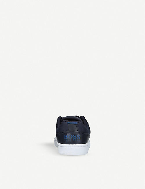 BOSS BY HUGO BOSS Barker leather trainers 6-9 years