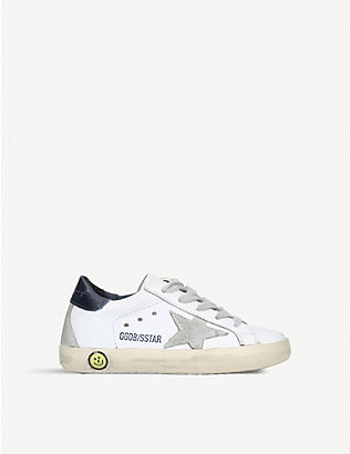 GOLDEN GOOSE: Superstar A5 leather trainers 6months-5years