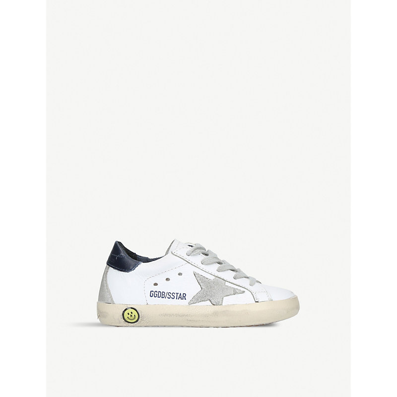 GOLDEN GOOSE DELUXE BRAND | Superstar A5 Leather Trainers 6months-5years | Goxip