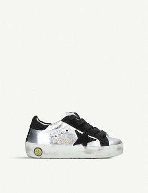 GOLDEN GOOSE Superstar P2 metallic leather trainers 6months-5years