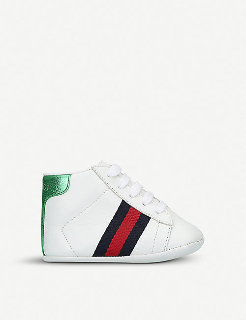 250a5801d GUCCI New Ace leather trainers 4-6 months