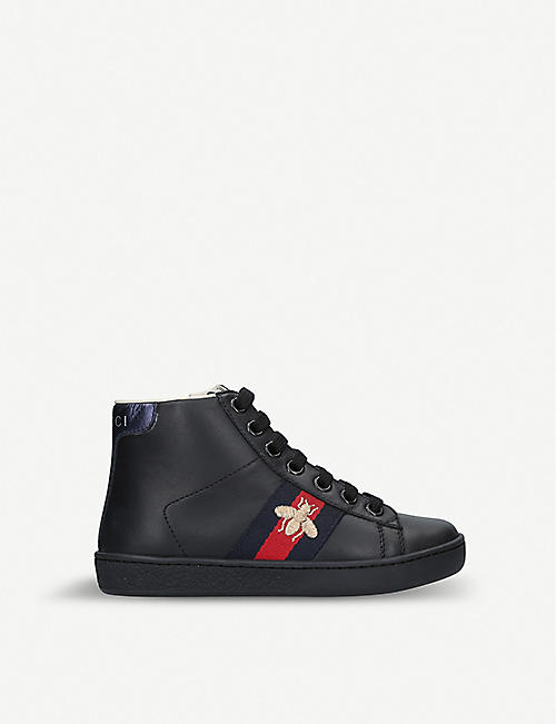 e0c0d54bf GUCCI New Ace leather high-top trainers 5-8 years