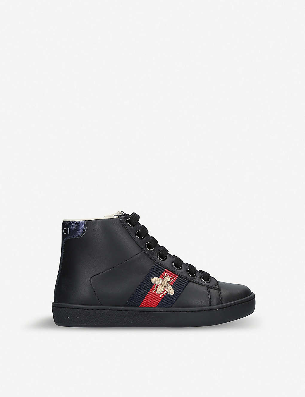 GUCCI: New Ace leather high-top trainers 5-8 years
