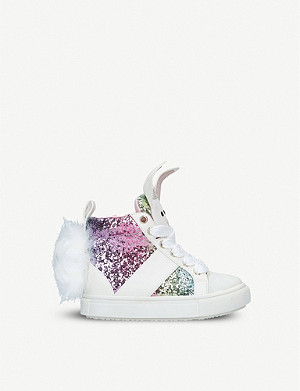KURT GEIGER LONDON Bunnie glitter trainers 3-7 years