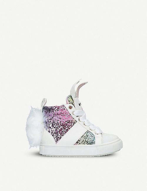 the latest f2ea4 ff6ce KURT GEIGER LONDON Bunnie glitter trainers 3-7 years