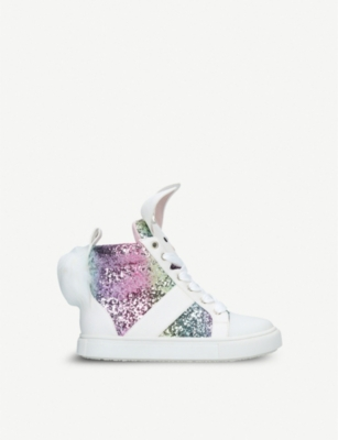 KURT GEIGER LONDON Bunnie glitter trainers 7-10 years