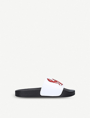 KURT GEIGER LONDON Claude lobster-print sliders