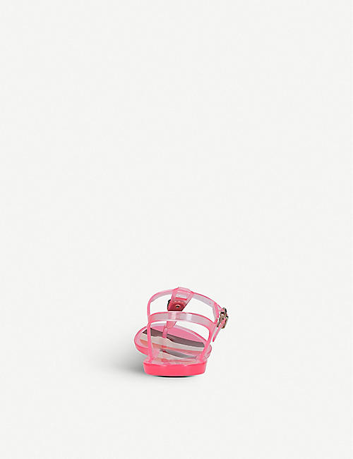 KURT GEIGER LONDON Kaleidoscope eagle-embellished jelly sandals 4-7 years