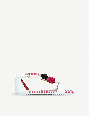 KURT GEIGER LONDON Sprinkles pom pom-detail sandals 7-11 years