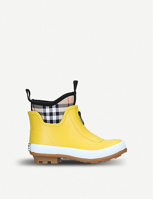 BURBERRY Flinton checked rubber rain boots