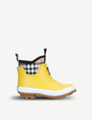 BURBERRY Flinton rubber rain boots 5-9 years