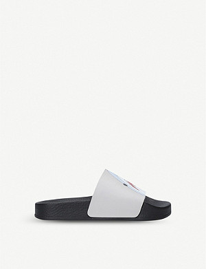 KURT GEIGER LONDON Sharkie graphic-print sliders