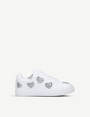 KURT GEIGER LONDON Mini Lane Love leather trainers