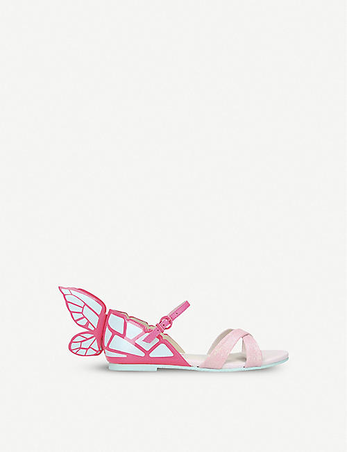 SOPHIA WEBSTER Chiara butterfly leather sandals 2-6 years