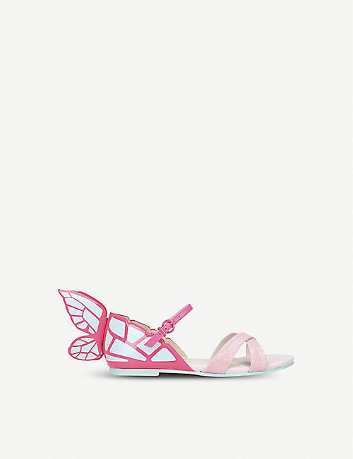 SOPHIA WEBSTER Chiara mini metallic butterfly sandals 5-8 years