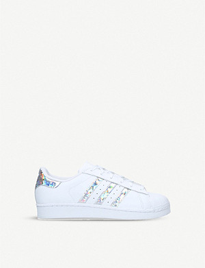 ADIDAS Superstar iridescent-stripe leather trainers 1-5 years