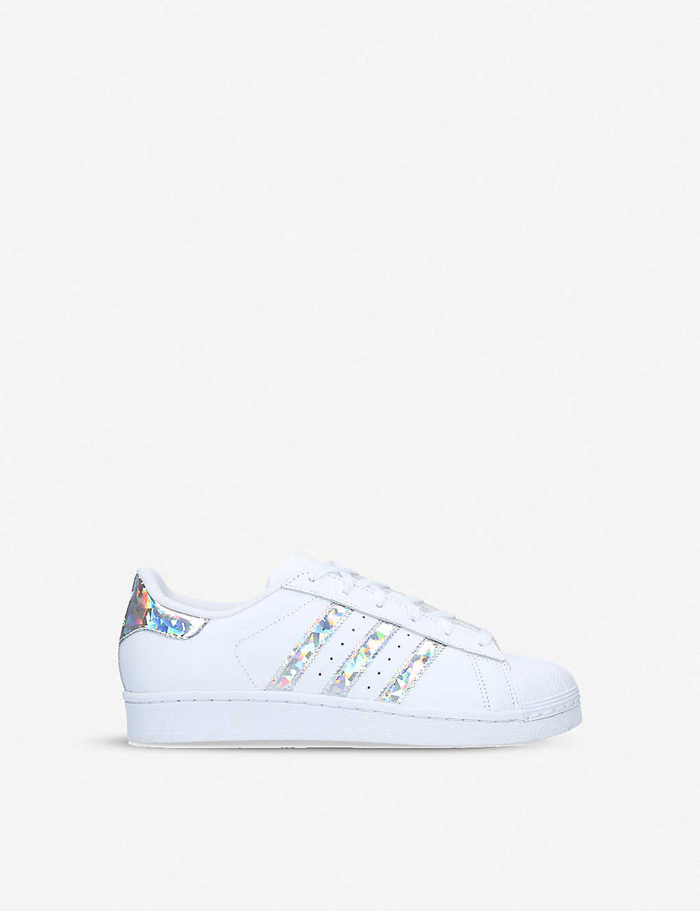 medalist etc Auckland  ADIDAS - Superstar iridescent-stripe leather trainers 1-5 years |  Selfridges.com
