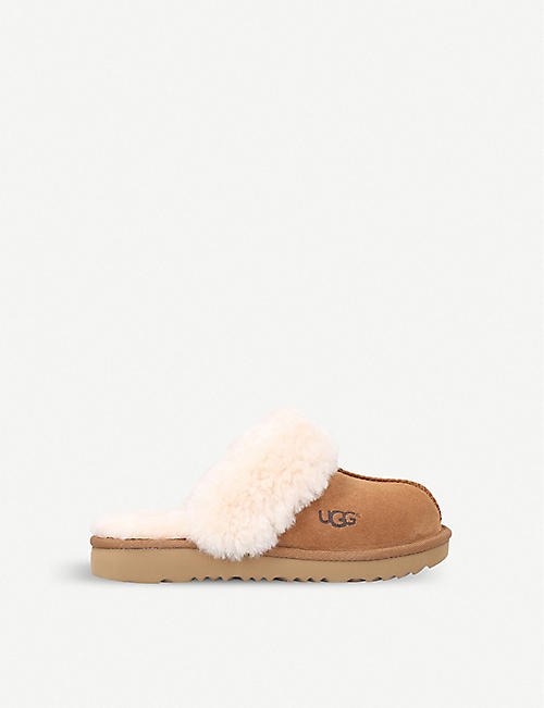 UGG: Cozy II suede and sheepskin slippers 5-11 years