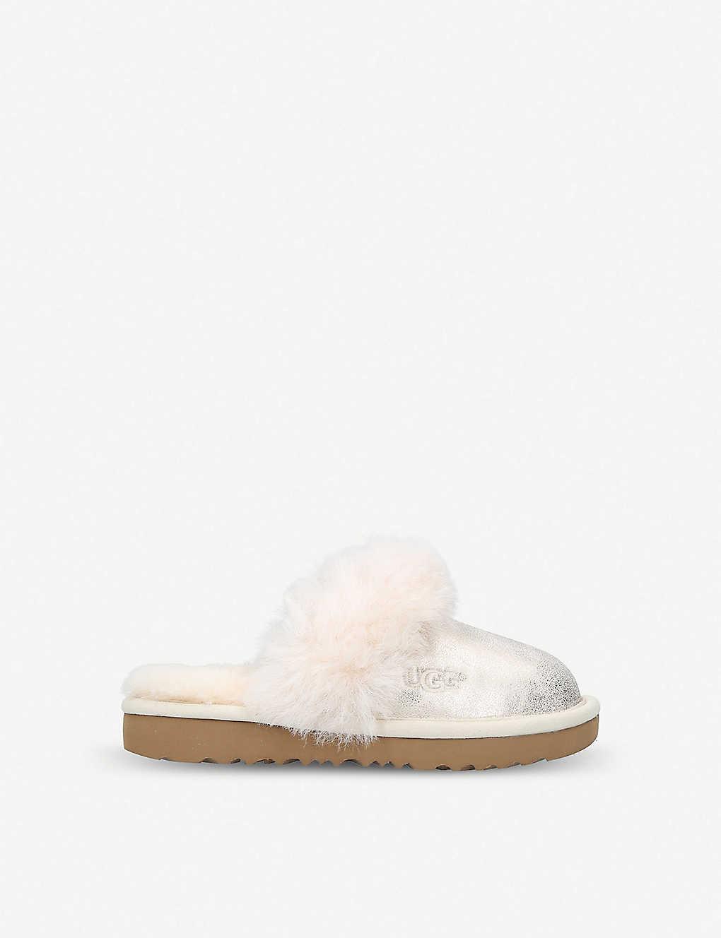 02cb19fb0f6 Cozy II metallic sheepskin slippers