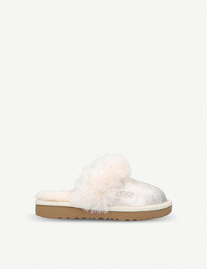 UGG Cozy II metallic sheepskin slippers