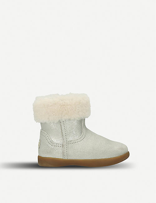 UGG Jorie II metallic suede and sheepskin boots