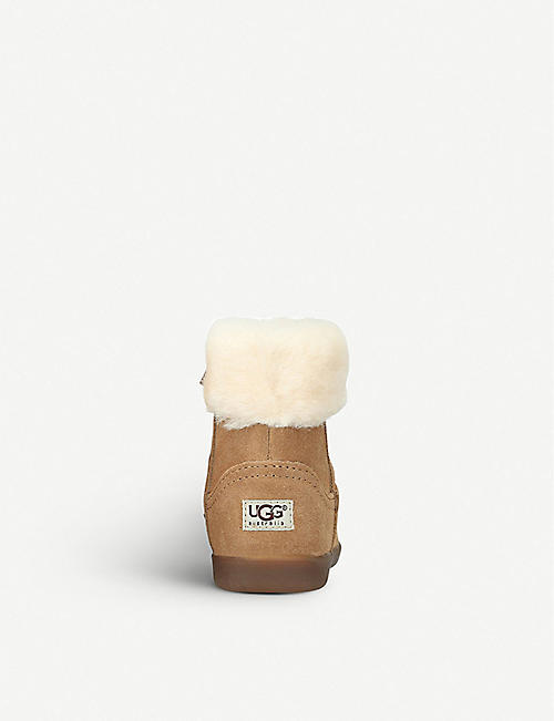 UGG Jorie II suede and sheepskin boots 2-7 years