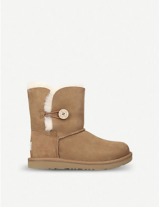 UGG: Bailey button II sheepskin boots 2-7 years