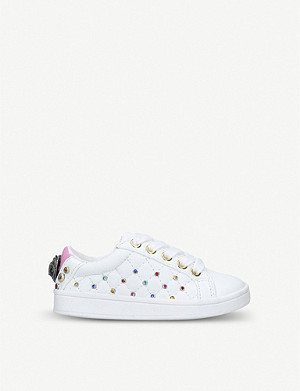 KURT GEIGER LONDON Mini Ludo studded faux-leather trainers 3-7 years