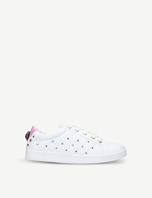 KURT GEIGER LONDON Mini Ludo studded faux-leather trainers 7-10 years