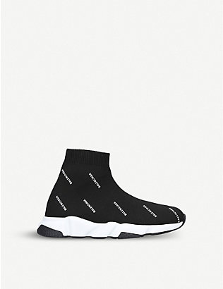 BALENCIAGA: Speed knit mid-top trainers 3-7 years