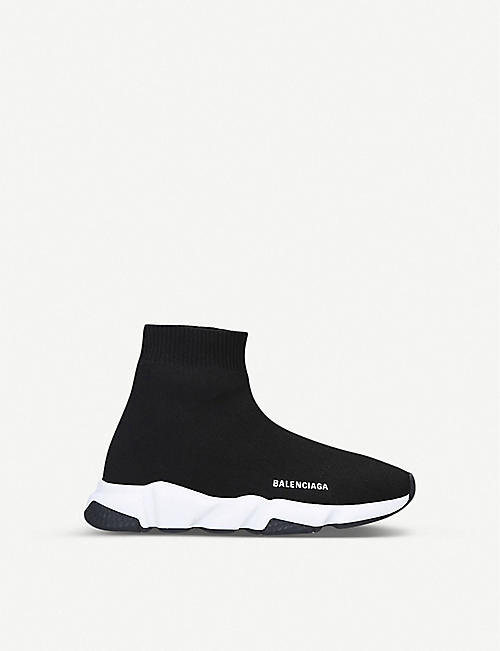 BALENCIAGA Speed knitted high-top trainers 4-7 years