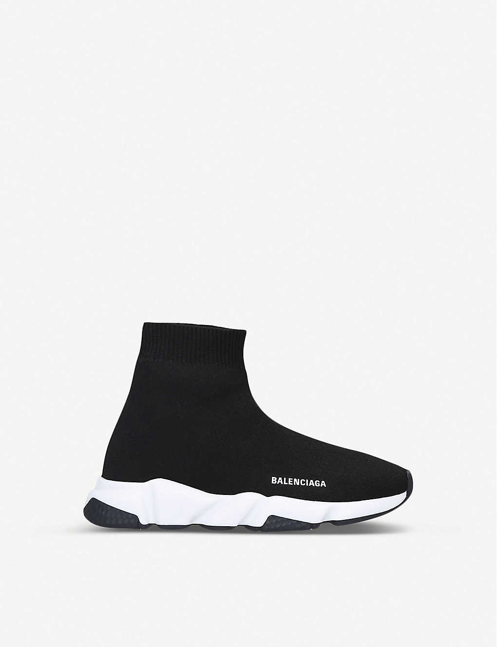 BALENCIAGA: Speed knitted high-top trainers 4-7 years