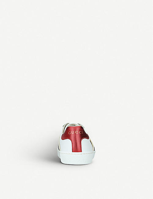 GUCCI New Ace jacquard-panel leather trainers 3-5 years