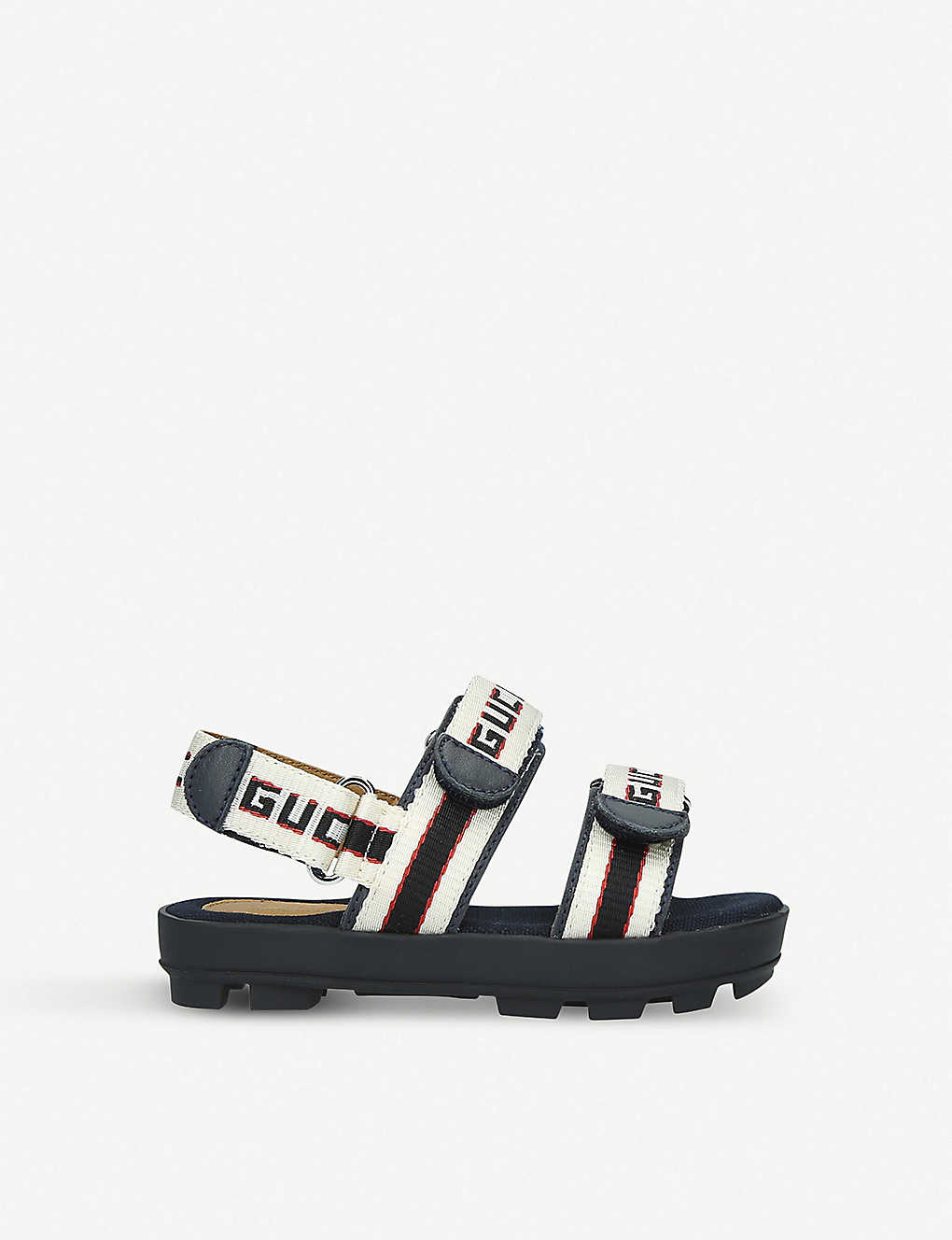 GUCCI: Sam logo-print canvas sandals