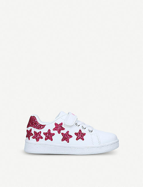 b6f9a07b397e57 LELLI KELLY Emily glittered star faux-leather trainers 3-9 years