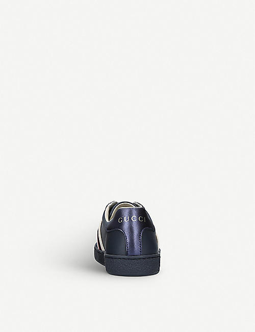 GUCCI New Ace leather low-top trainers 6-7 years