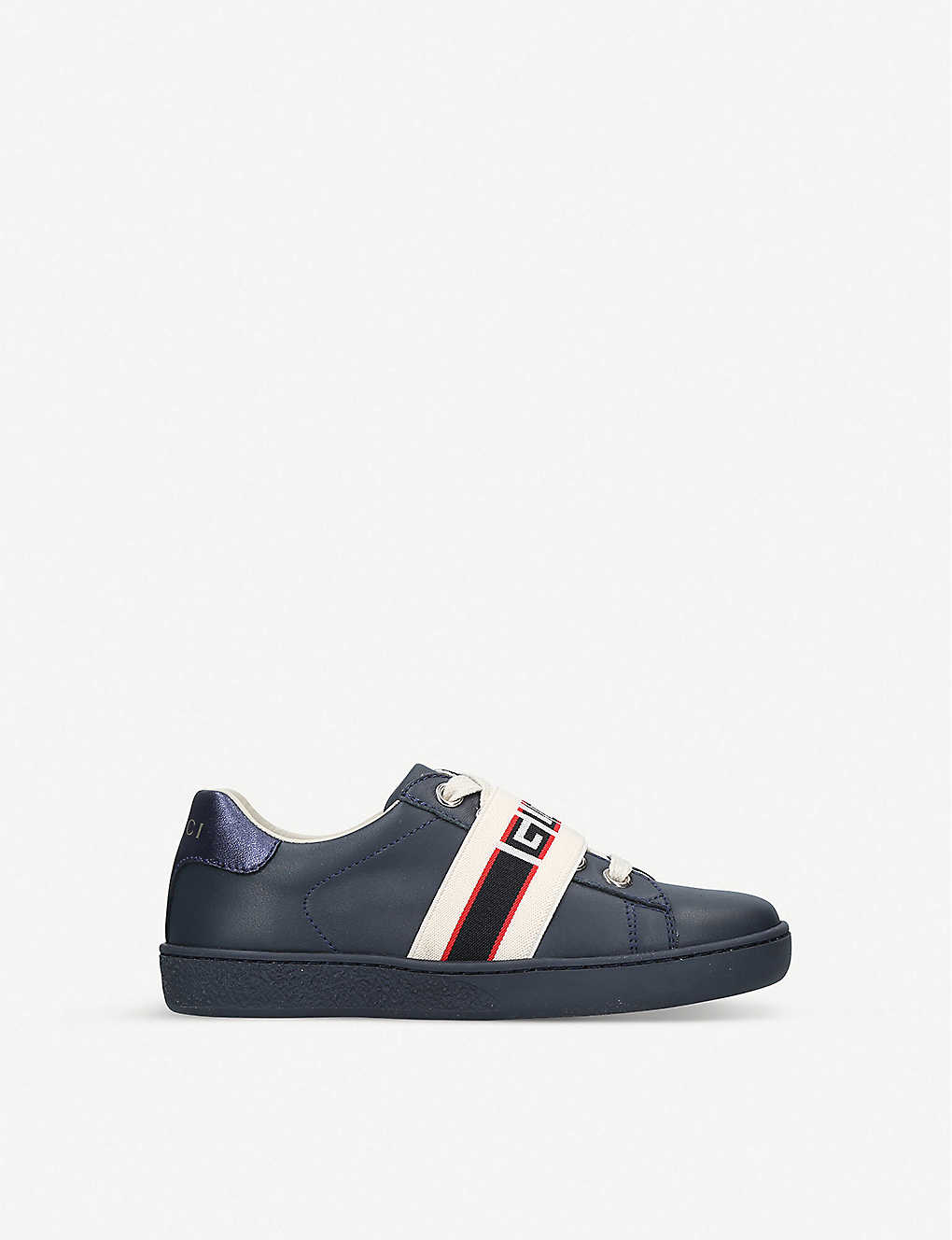 GUCCI: New Ace leather low-top trainers 5-9 years