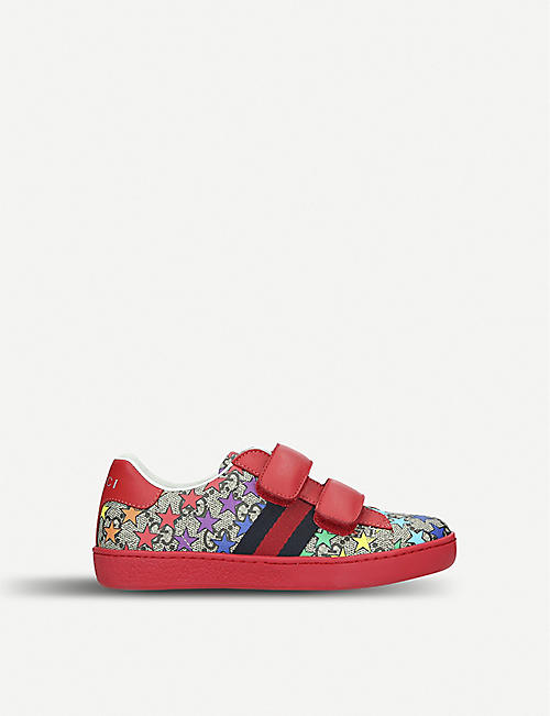 b8d3c9c9337 GUCCI New Ace rodeo canvas trainers 1-4 years